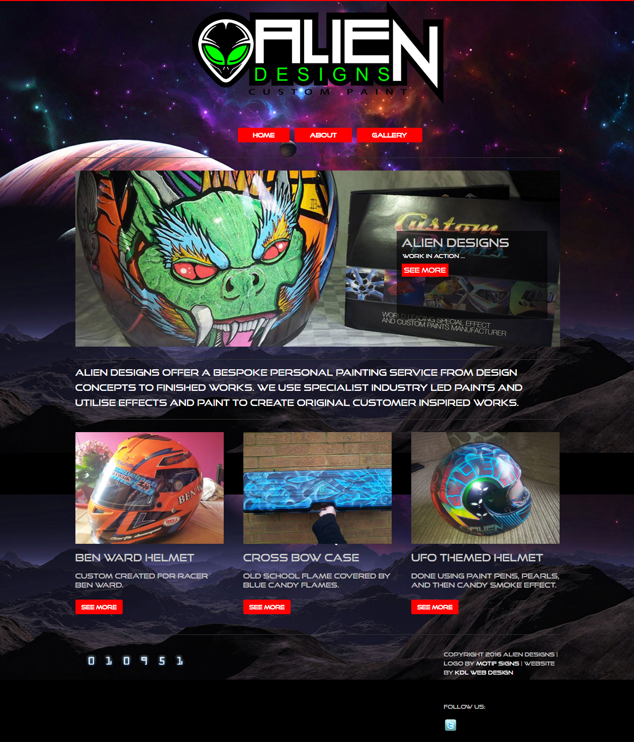 Alien Designs Website