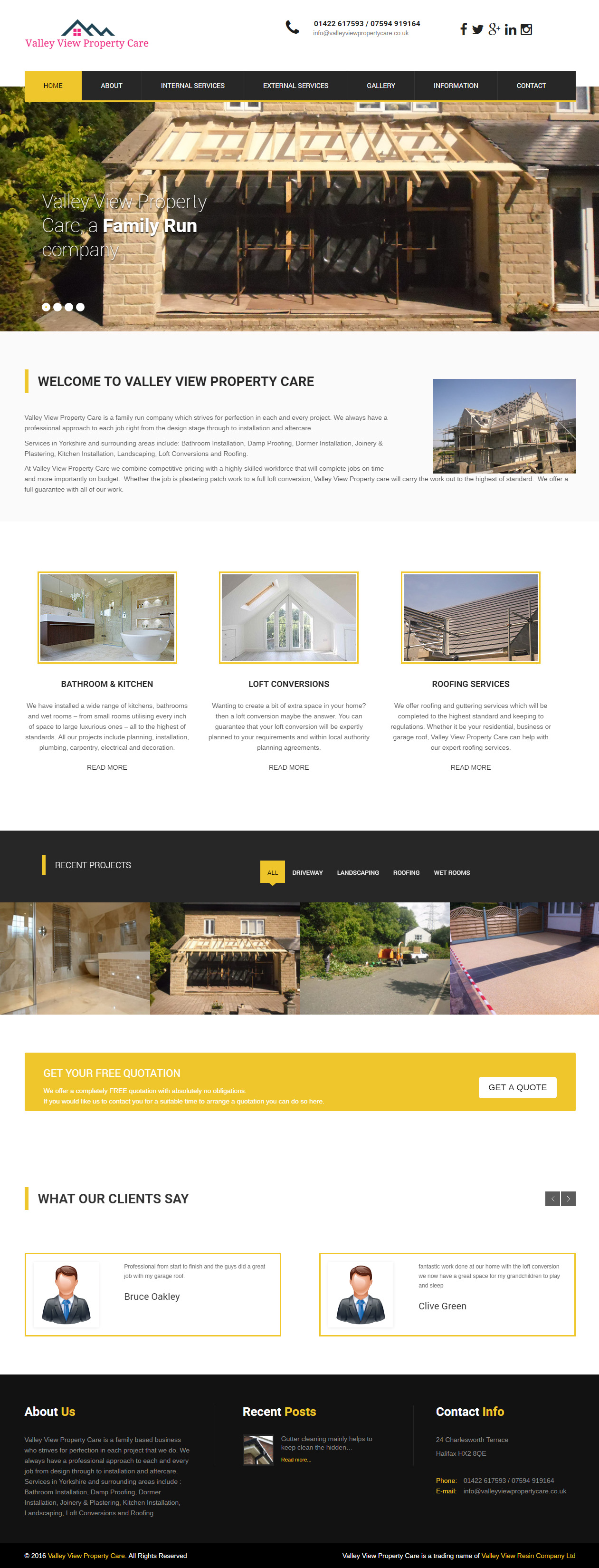 Valley View Property Care Website