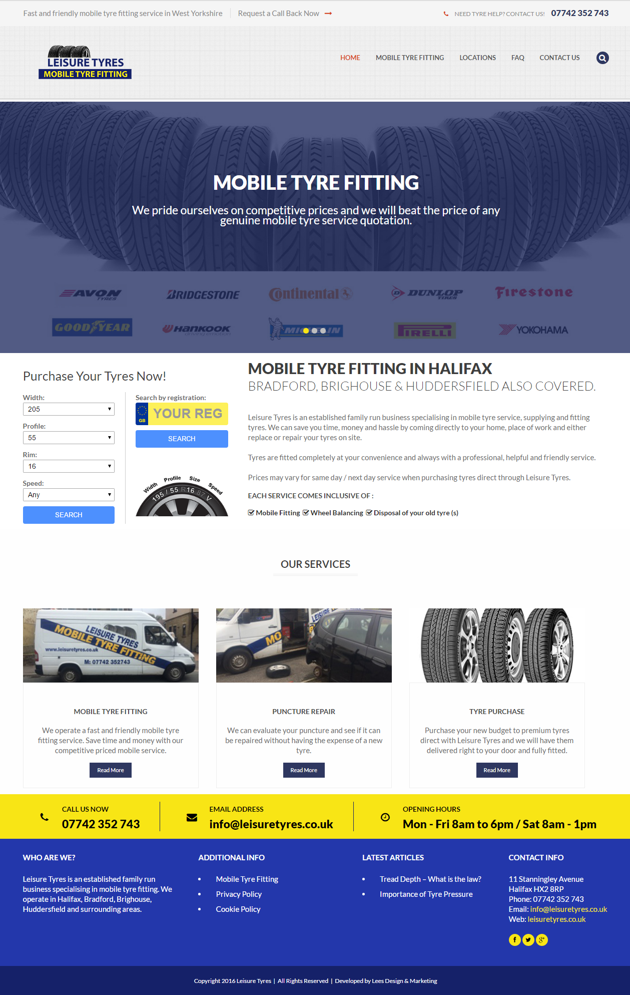 Leisure Tyres Website and SEO